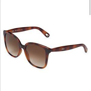 Chloe Square Logo Sunglasses Brand New